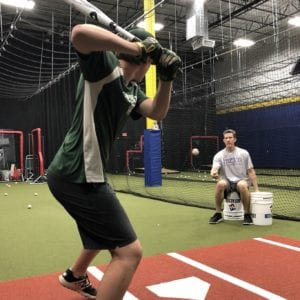 private baseball hitting lesson