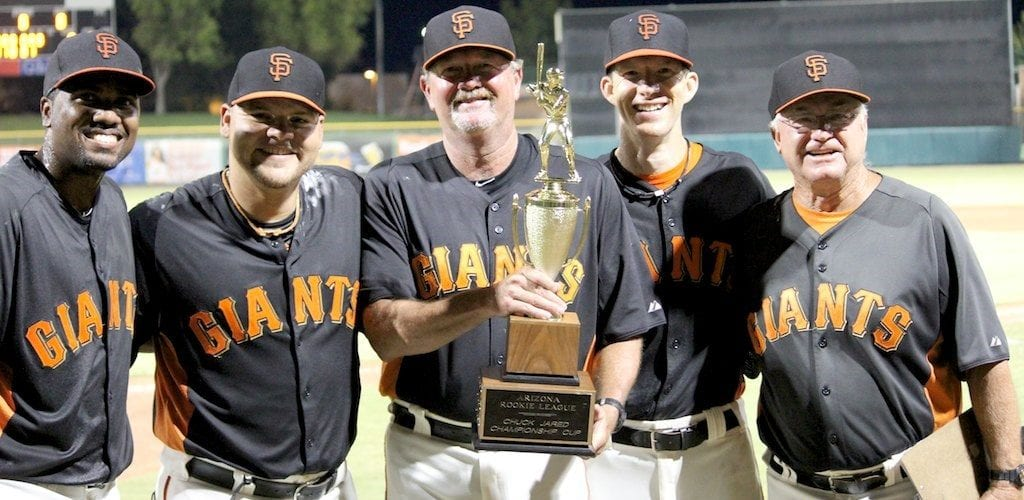 Cactus Athletics Arizona Giants Rookie League CHAMPS