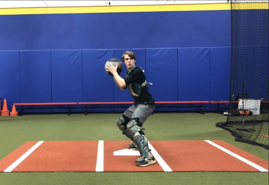 cactus athletics medicine ball drill for catchers